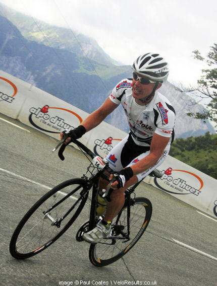 Almost at the top of Alpe D Huez.