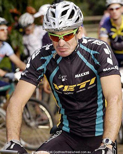 Paul at the Australian MTB Championships, Victoria, a couple of years ago.