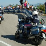The cops on the race are great bike handlers.