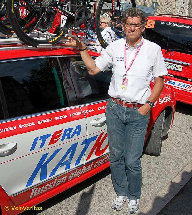 Hans-Michael Holczer and his Katusha team.