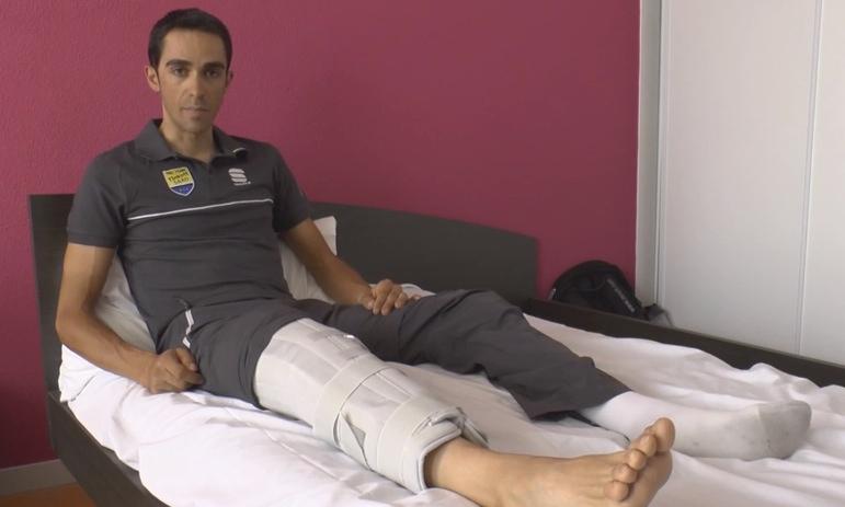 Contador Crashes