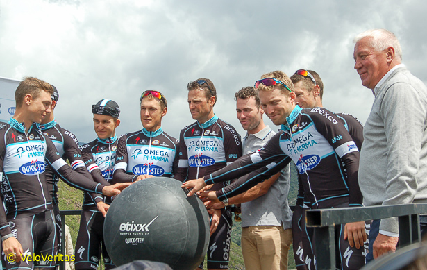 The QuickStep team will be changing their name from Omega-Pharma to Etixx next season.
