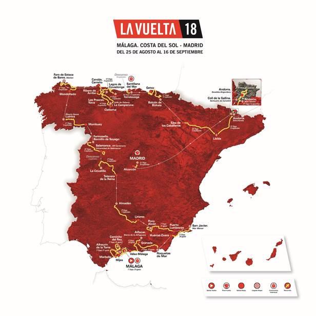 Vuelta a Espana 2018 route